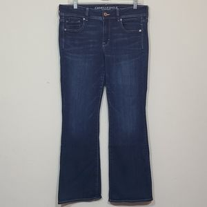American Eagle Outfitters Kick Boots Blue Denim